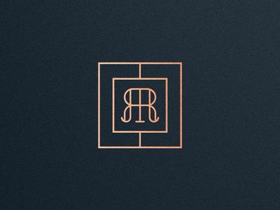 R+R Monogram gold branding monogram logo