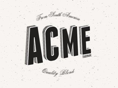 Acme Blend blend espresso acme branding typography logotype
