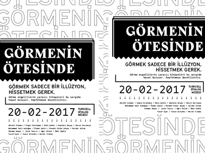 Gormenin Otesinde // Beyond Vision exhibition design poster