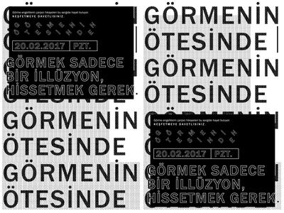 Gormenin Otesinde // Beyond Vision poster exhibition design