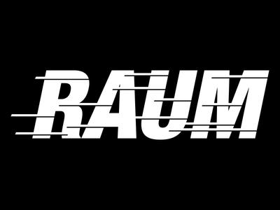 Raum typography raum branding logo