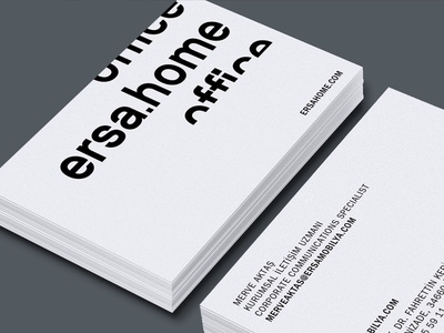 Ersa branding card business logo