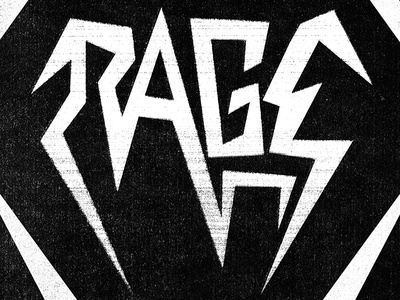 Rage design cover typography logo
