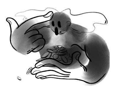 Freelance freshman wix playoff wix freshman black and white portrait character drawing freelance illustration