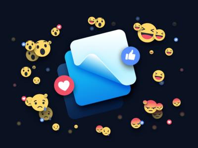 What We're Working On: Facebook reaction editorial motion framer facebook design