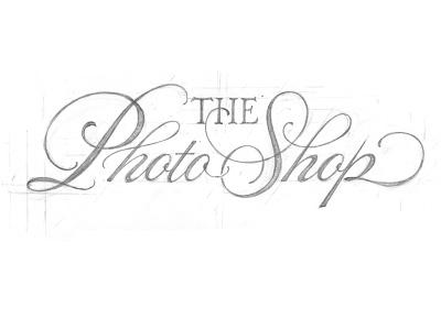 The Photo Shop lettering script hand lettering