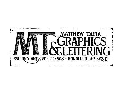 MT Stamp lettering hand lettering