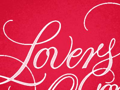 Lovers lettering hand lettering script lovers