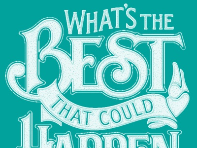The Best One Color lettering hand lettering