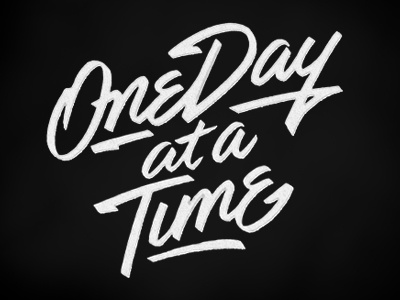 One Day at a Time script lettering