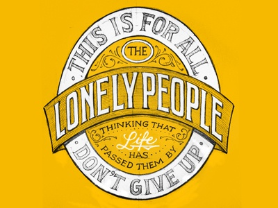 Lonely People Sketch lettering sketch hand lettering