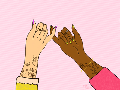 Pinky Promise women empowerment illustration procreate womenwhodraw femaleillustrationart standwithwomen women womenwhodesign pinkypromise womensupportingwomen
