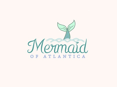 Mermaid Logo atlantica ariel mermaid tail typogaphy typo logo logotype logo design mermaid monday visual design illustration disney little mermaid mermaid logo branding