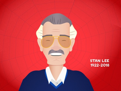 EXCELSIOR! illustration spiderman marvel stan lee rip stan lee
