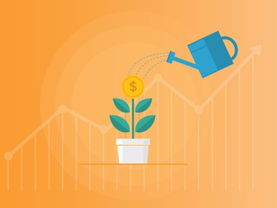 Growth Strategy investing plant strategy growth illustration visual design