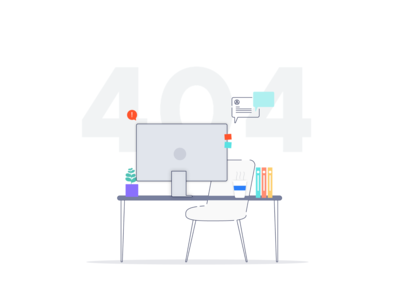 Designer Not Found designer desk designers desk visual design illustration 404 404 error page desktop missing designer page not found 404 error 404 page