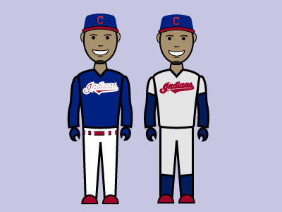 Cleveland Indians Blue and Grey