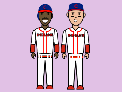 Jim Thome and Kenny Lofton indians cleveland