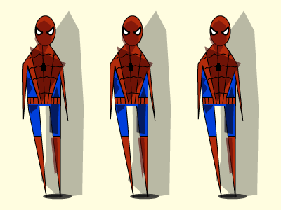 Experiment in Shape Shade and Spider-Man spider-man