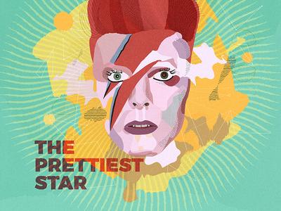 Ziggy Stardust genious vector rock glam illustration pop music bowie