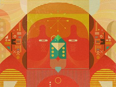 Sphinx mythological animal illustrator colourful illustration