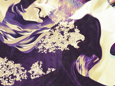 Organic textures digital experimental illustration graphic design texture