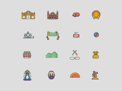 Salta City - Icons system salta iconography icon community city branding digital
