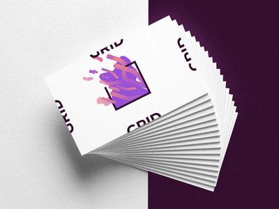 Grid - Business cards zoom ux ui typography startup science molecule logo entrepeneur branding