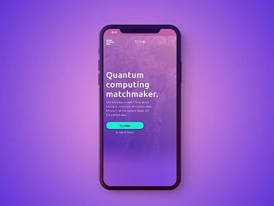 Quantum Computing Matchmaker quantum computing dating dating app the system video full screen movie tech future tech uiux landing page black mirror