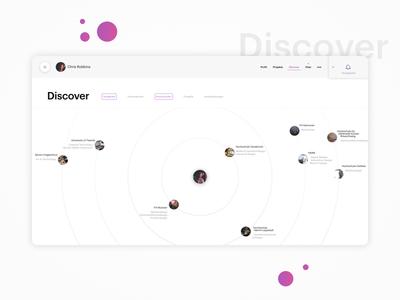 Discover Page ui ux design student mockup university platform unite