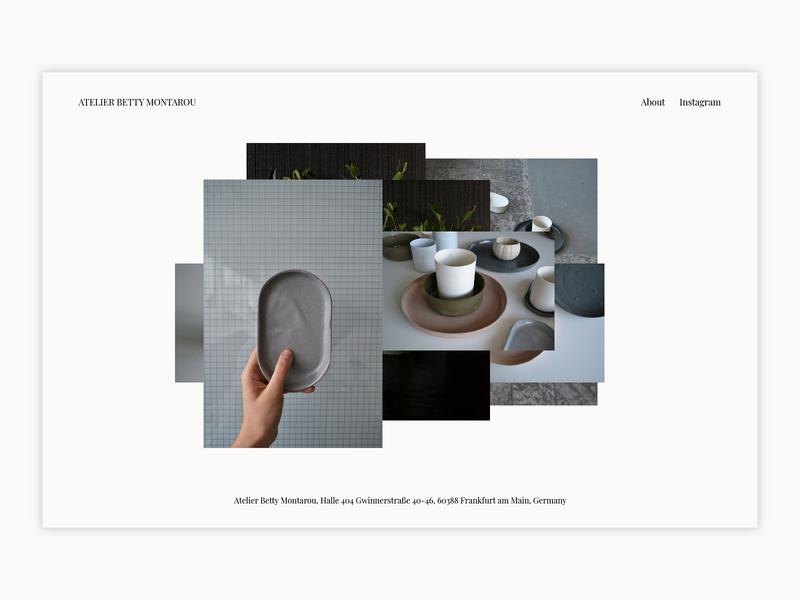 Betty Montarou montarou betty typography design clean pottery product website minimal