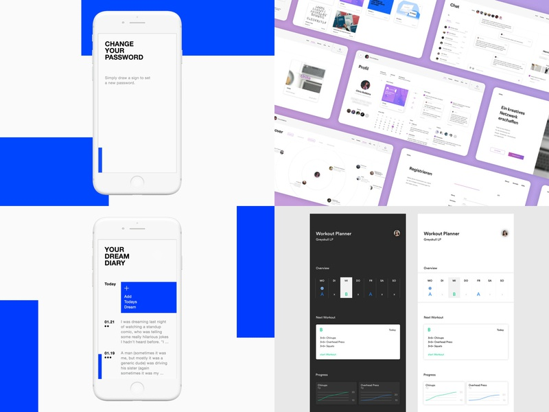 Top 4 2018 top 4 2018 diary dream mockup design minimal blue