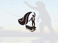 Fisherman of success logo