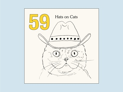 99 Art Challenges — Prompt 2 challenge prompt drawing type color design cat hat illustration