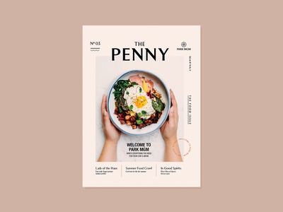 The Penny penny retro typogaphy type branding photograhy food newsletter hotel editorial print newsprint newspaper