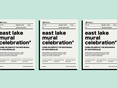 Marta Event Poster retro swiss simple lettering design print poster atlanta typography type public transit marta