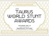 2014 Taurus World Stunt Awards Invite