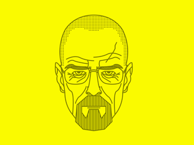 Walter White X Heisenberg heisenberg design vector cairo illustrator illustration branding brand hbo yellow vectorart lineart breaking bad bryan cranston walter white mark