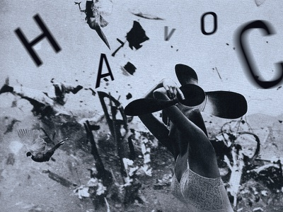 Havoc surrealism toshiko okanoue dada type typography collage