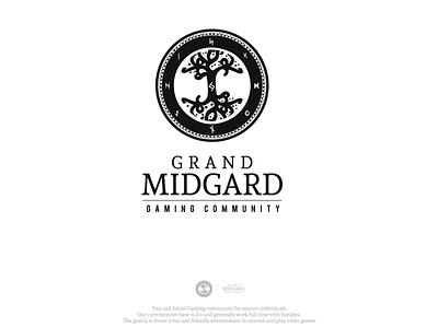 Gaming Community logo gaming blog runes nordic design logo