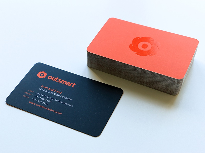 Outsmart Business Card by Ivan Sanford - Dribbble