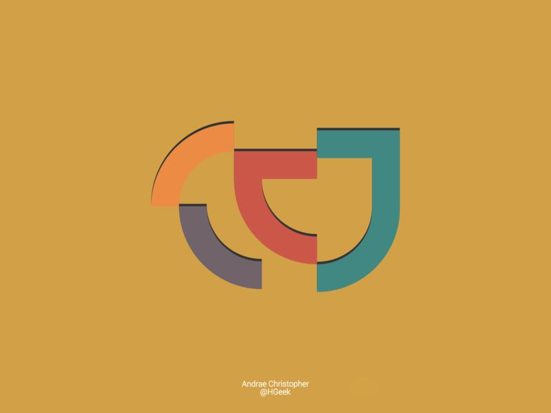 Flat Modern Geometric Logo Design geometric design graphic design abstract logo abstract design flat design branding abstractmark logo design vector logo design