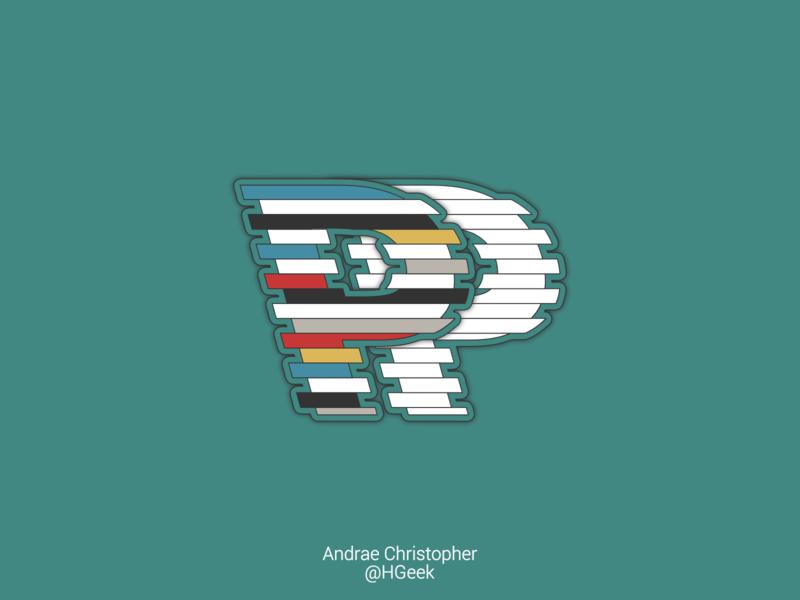 Striped PP Vector Design lettermark monogram logo typography graphic design branding logo design vector logo design