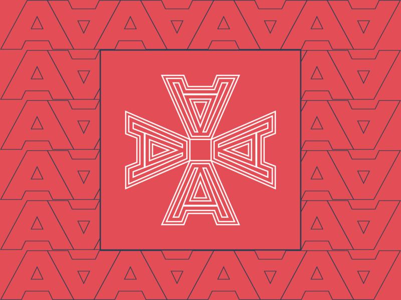 Pattern A Vector Design abstract design monogram logo typography graphic design flat design branding logo logo design design vector