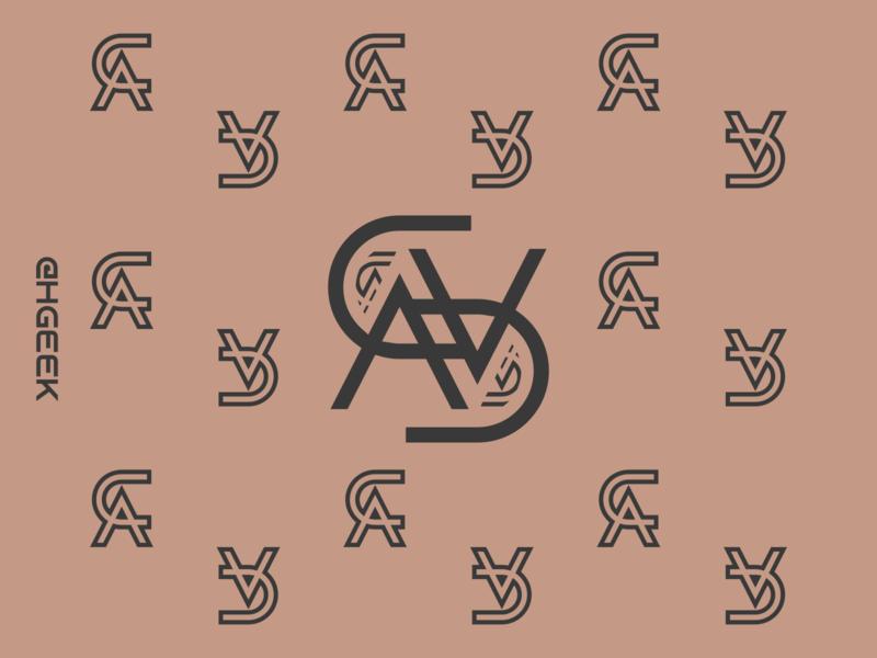 PATTERN C.A letters monogram logo lettermark graphic design flat design branding logo logo design design vector