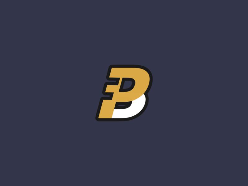 P + B Logo Type monogram logo lettermark flat design logo branding logo design design vector
