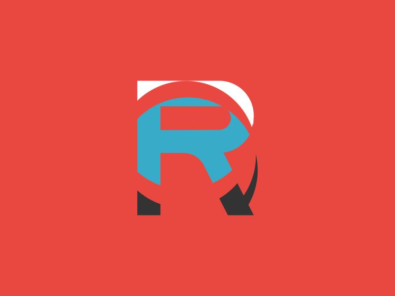 Stylized R minimalist logo letters typography monogram logo lettermark flat design branding logo logo design design vector