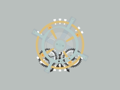 Mechanical Watch Design mechanical watch flat design vector design illustration graphic design