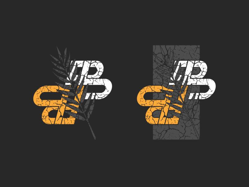CRACKED letters monogram logo lettermark graphic design flat design branding logo logo design vector design