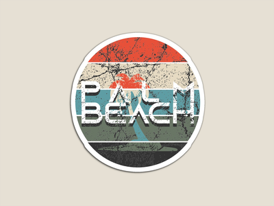Yeah, Palm Beach typography grunge texture grungy distressed illustration graphic design vector design